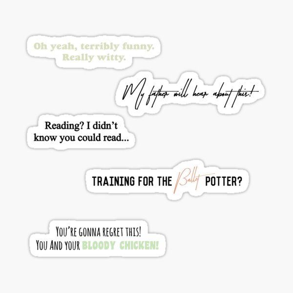 Draco Quotes Sticker Package Sticker