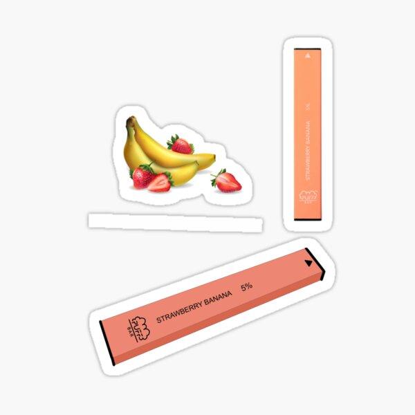 Strawberry Banana Puff Bar Pack Sticker