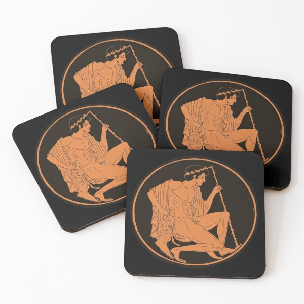 Bacchant with rabbit Coasters (Set of 4)