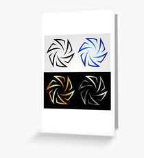 Aperture in different colors  Greeting Card