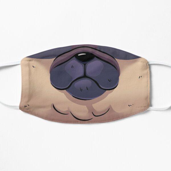 Pug Dog Mask // Funny Mouth, Puppy, Sad Doggo Flat Mask