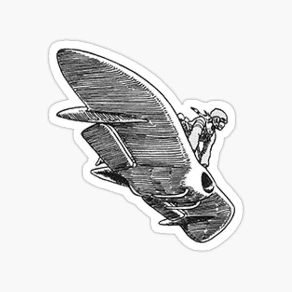 Nausicaa and Glider Sticker