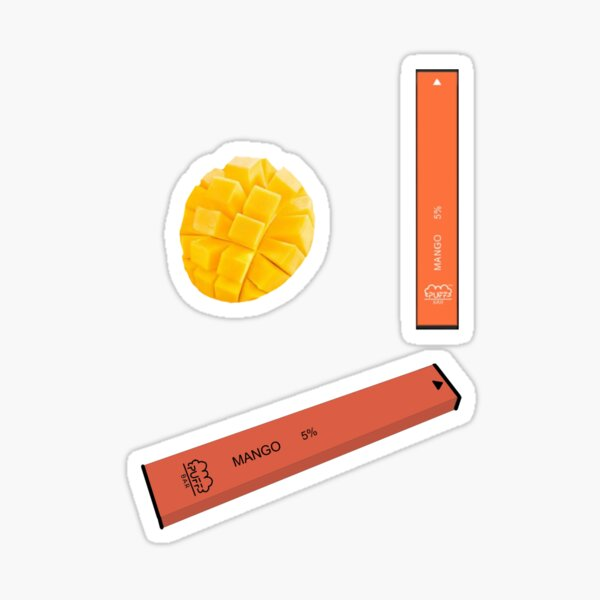 Mango Puff Bar Pack Sticker