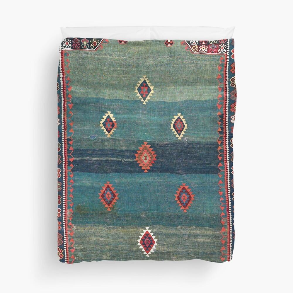 Sivas Antique Turkish Niche Kilim Print Duvet Cover