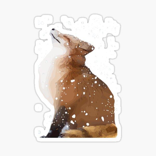 Snowfox Sticker