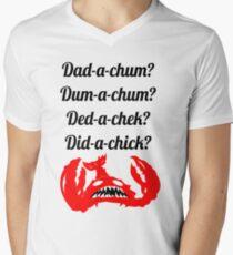 Camiseta para hombre de cuello en v Lobstrosity Dad-a-Chum