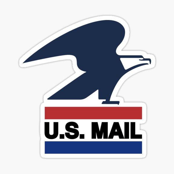 United States Postal Service -- Classic U.S. Mail Logo 1970 - 1993 Sticker