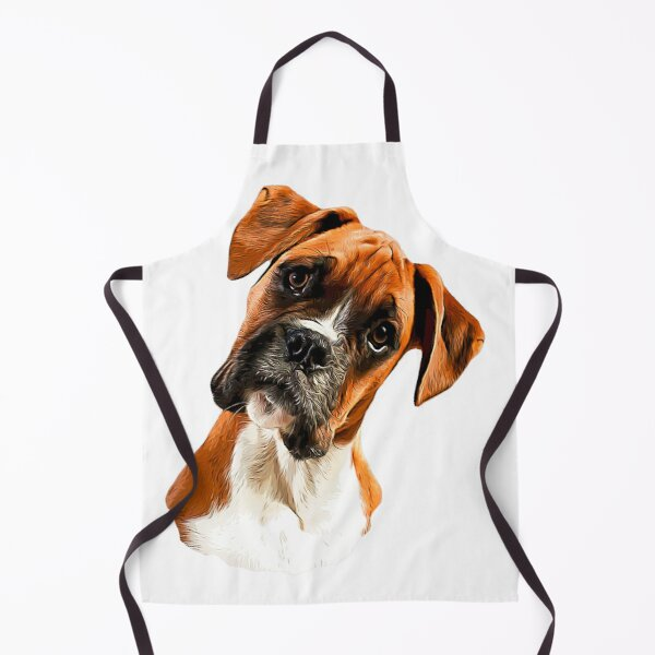 Boxer A Beautiful Boxer Head Tilt Apron