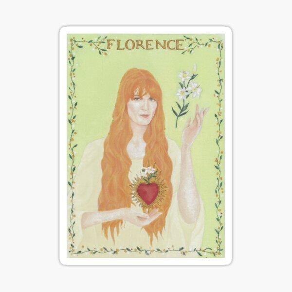 portrait of Florence Welch Sticker