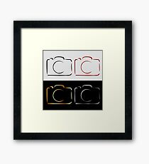 Abstract photography camera Framed Print