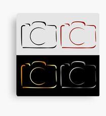 Abstract photography camera Canvas Print