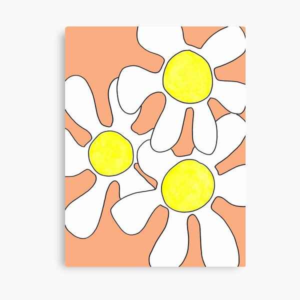 Wild flowers in coral Canvas Print