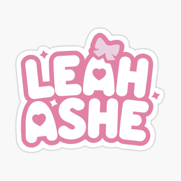 Leah Ashe Logo Sticker