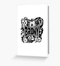 Brony Work Out Shirt Greeting Card