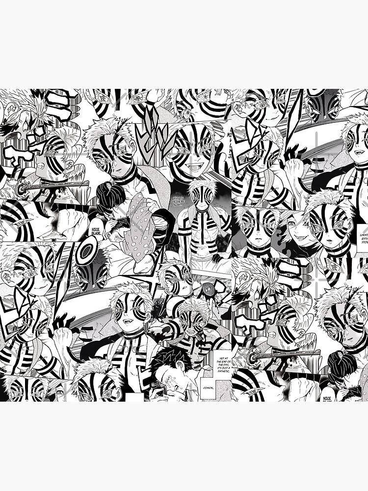 Akaza Demon Slayer KNY Collage by bakuh0e