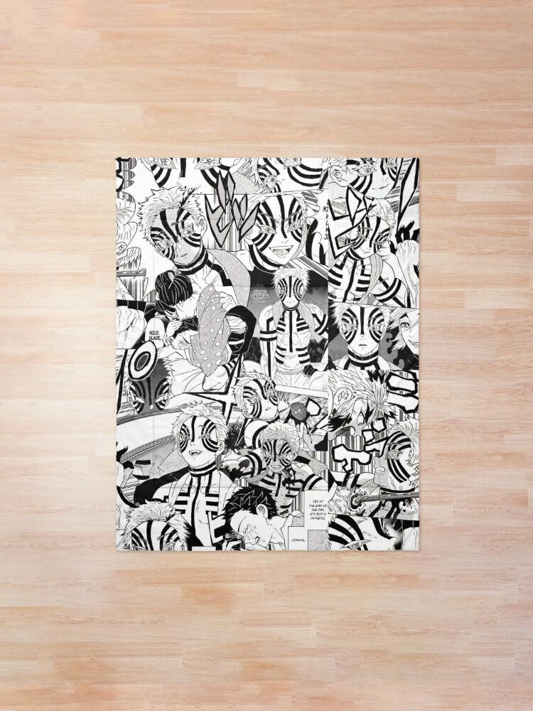 Alternate view of Akaza Demon Slayer KNY Collage Comforter