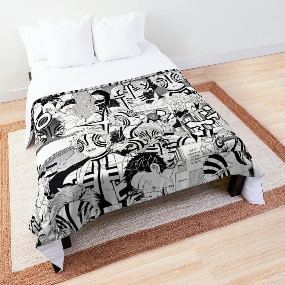 Akaza Demon Slayer KNY Collage Comforter