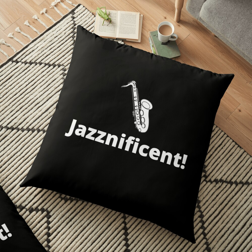 TheCoffeeCupLife: Jazzificent!-Saxophone Floor Pillow