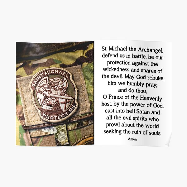 St. Michael Prayer - 1 Poster