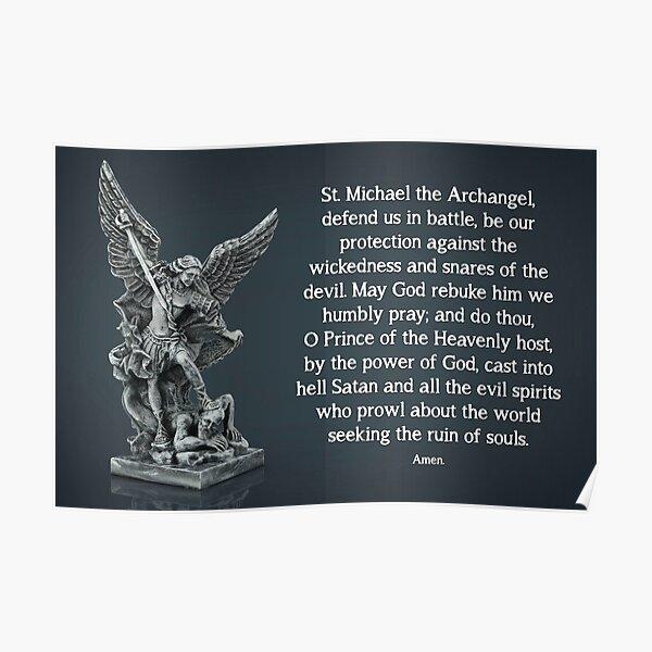 St. Michael Prayer - 2 Poster