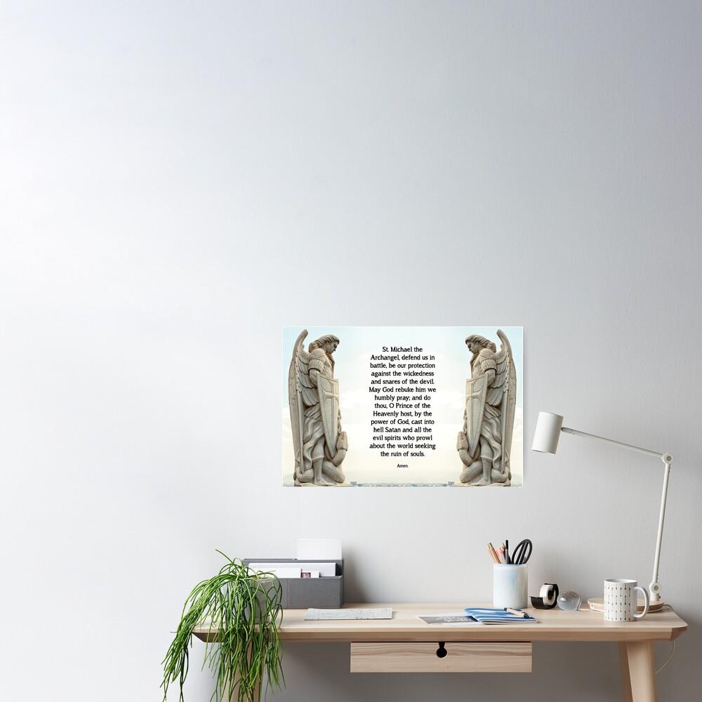 St. Michael Prayer - 3 Poster