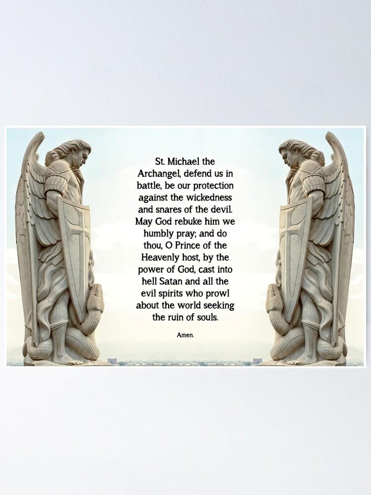 Alternate view of St. Michael Prayer - 3 Poster