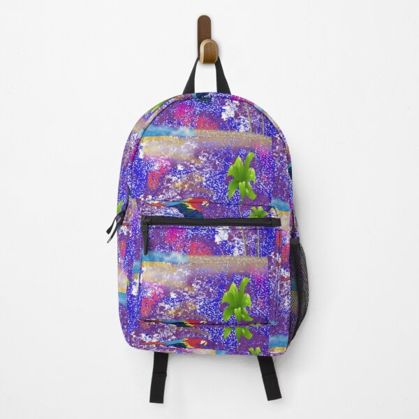 Colorful Scarlet Macaw Parrot  Backpack