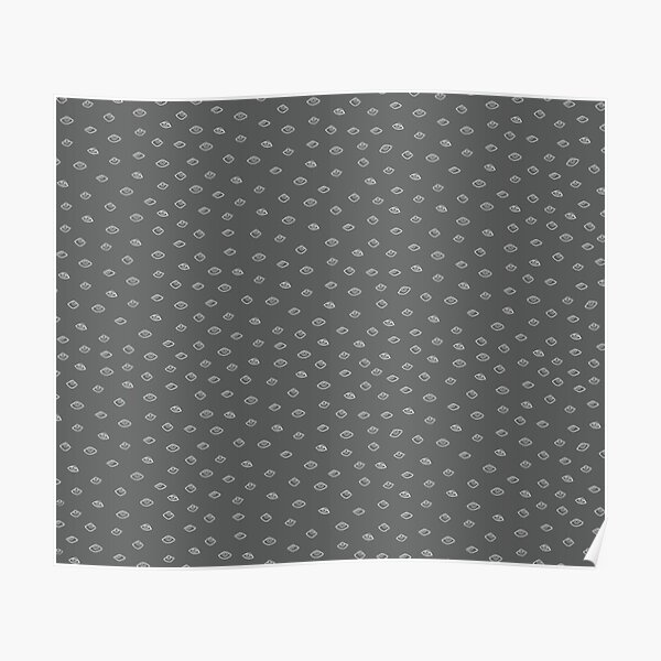 Eye Pattern in White and Grey Poster