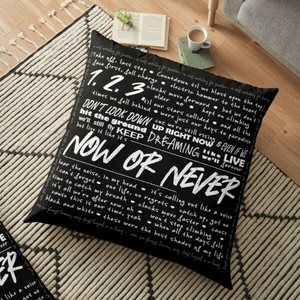 """""""Now or Never"""" Julie and the Phantoms Floor Pillow"""