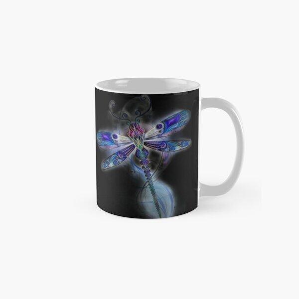 Dragonfly Floral Fantasy Classic Mug