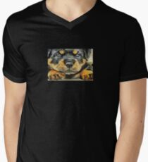 Impressinist Rottweiler Puppy Portrait in Vincent van Gogh Style T-Shirt