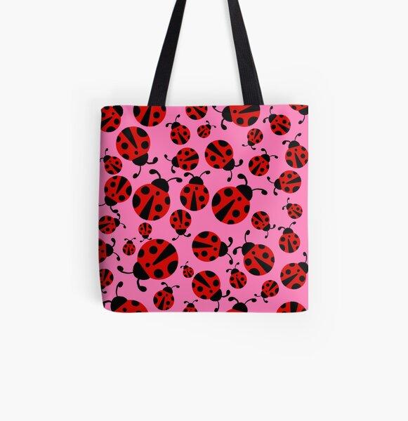 Ladybug pattern 2  All Over Print Tote Bag