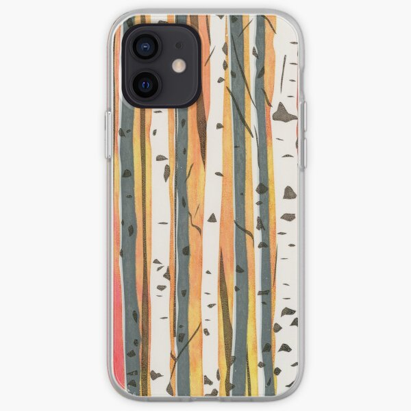 Silver Birch Trees in Autumn iPhone Soft Case