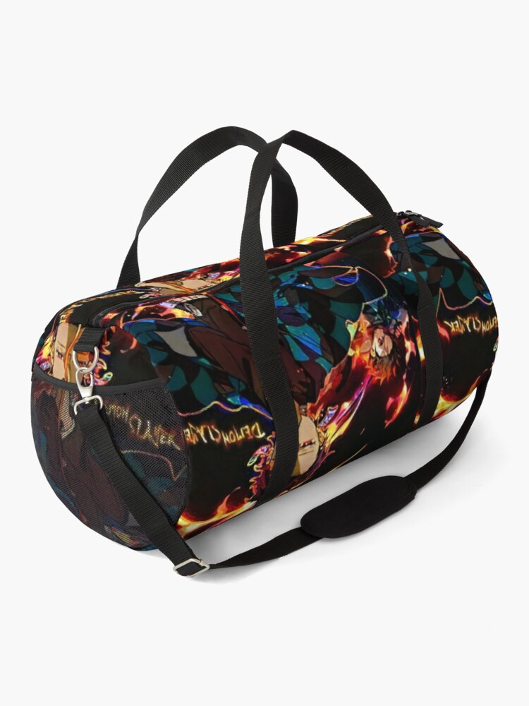 Alternate view of Demon Slayer on Fire  Duffle Bag