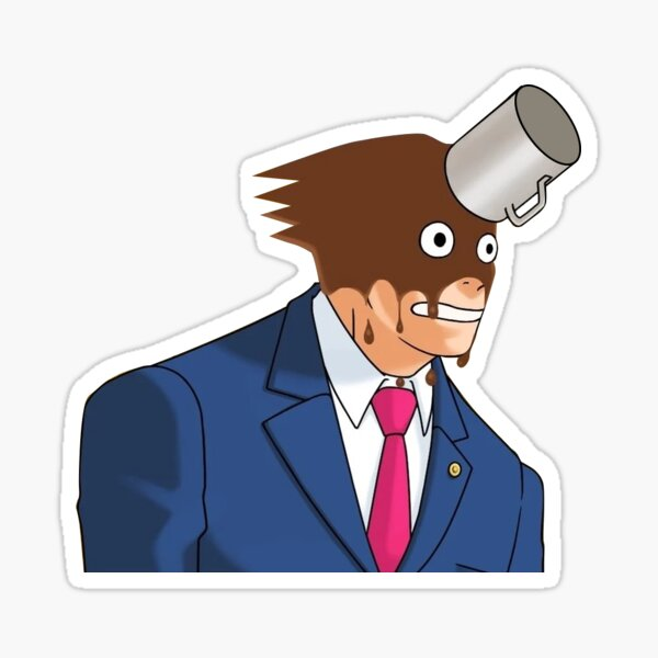 Phoenix Wright coffee throw Sticker