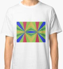 Rainbow rays abstract design Classic T-Shirt