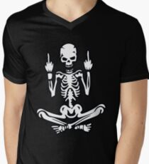 Awesome Middle Finger Skull T-Shirt