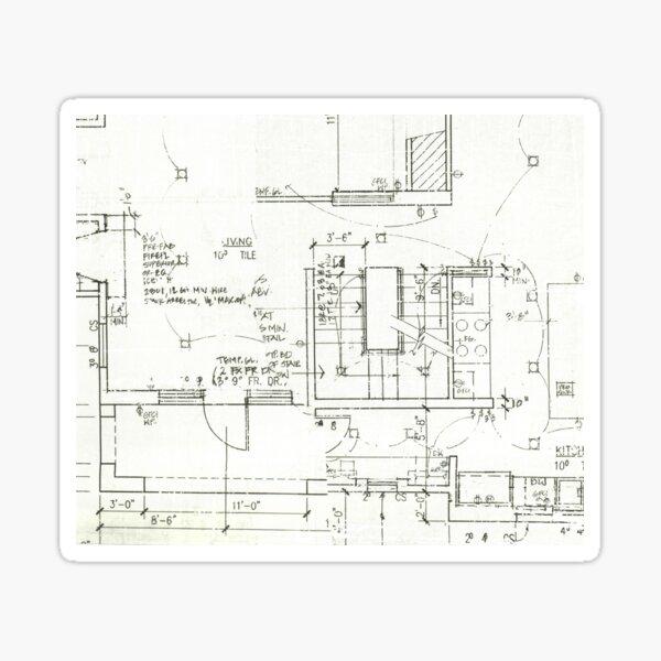 Architect's Blueprint - Architecture Pattern Sticker