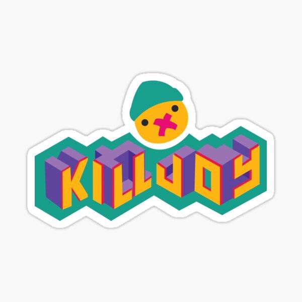 tipografía killjoy Pegatina