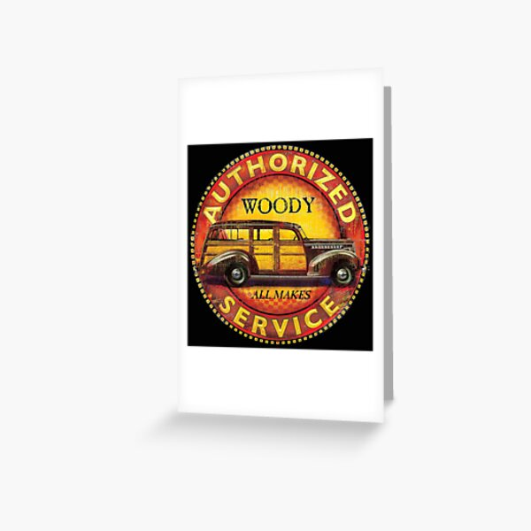 Woody Authorized Service Greeting Card