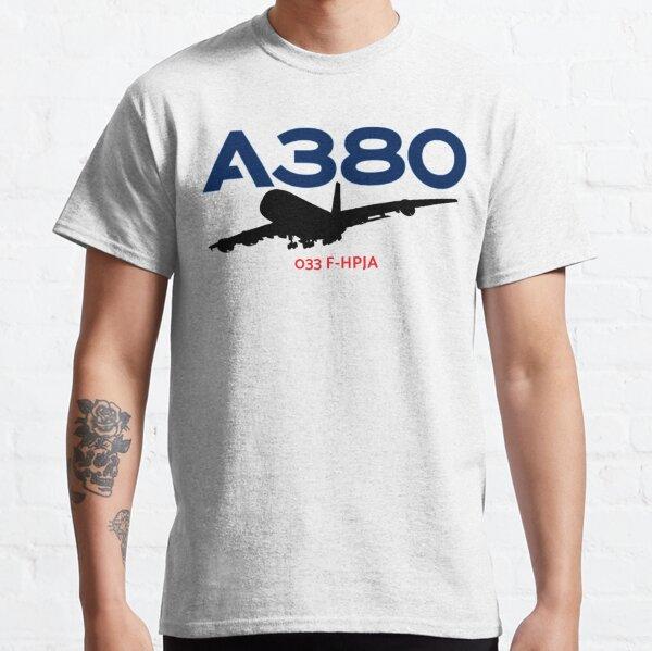Airbus A380 033 F-HPJA (Black)  Classic T-Shirt