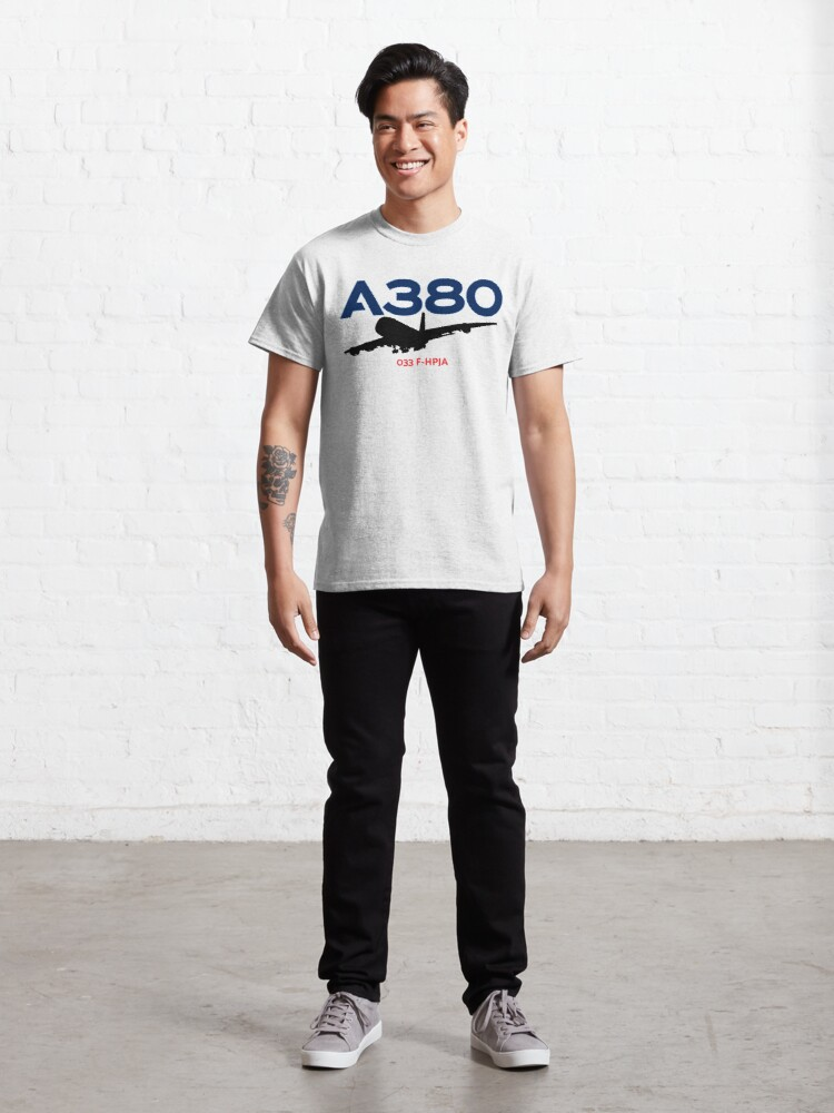 Alternate view of Airbus A380 033 F-HPJA (Black)  Classic T-Shirt