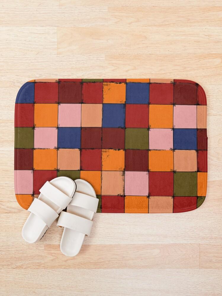 Alternate view of Winter Checkboard Bath Mat