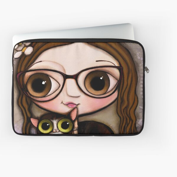The girl with three cats Laptop Sleeve