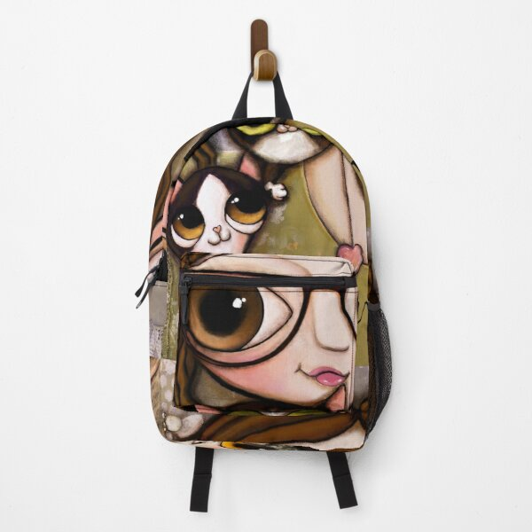 The girl with three cats Backpack