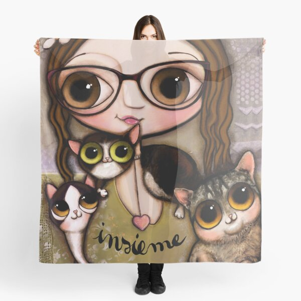 The girl with three cats Scarf
