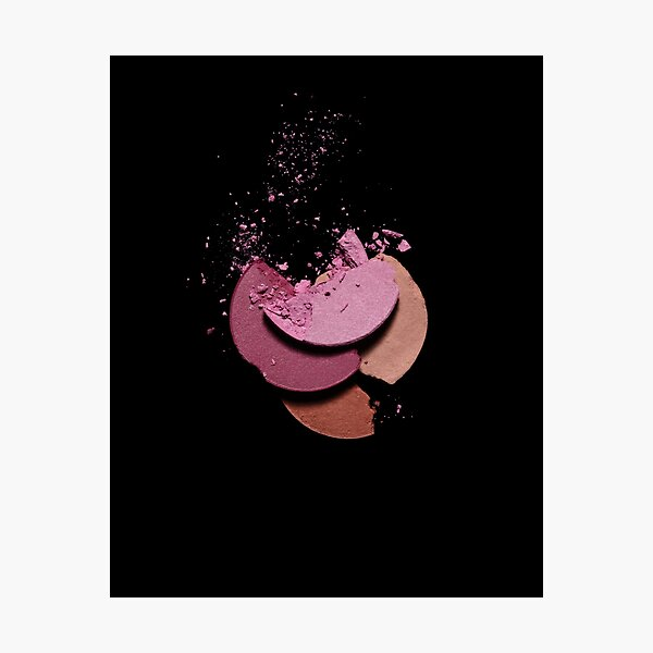 Pink and Burgundy Eyeshadows. Photographic Print