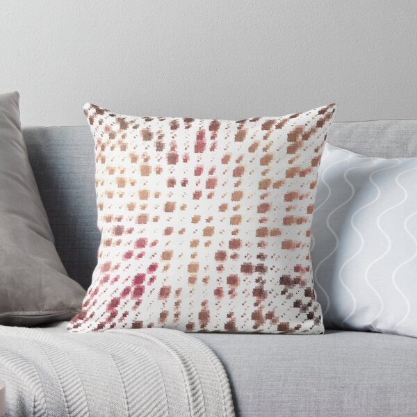 MOVING SQUARES Throw Pillow