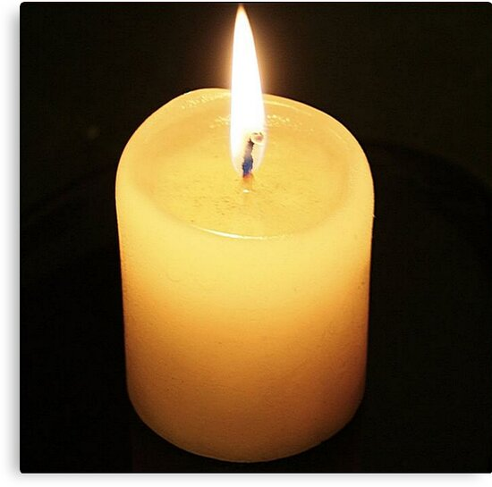 Candle On Black Background by taiche