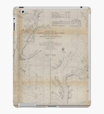 Civil War Maps 1470 Preliminary chart of Calibogue Sound and Skull Creek forming inside passage from Tybee Roads to Port Royal Sound South Carolina iPad Case/Skin
